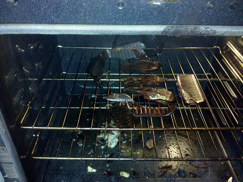 Jamie oliver s food revolution cookbook review burn down for Bacon wrapped fish
