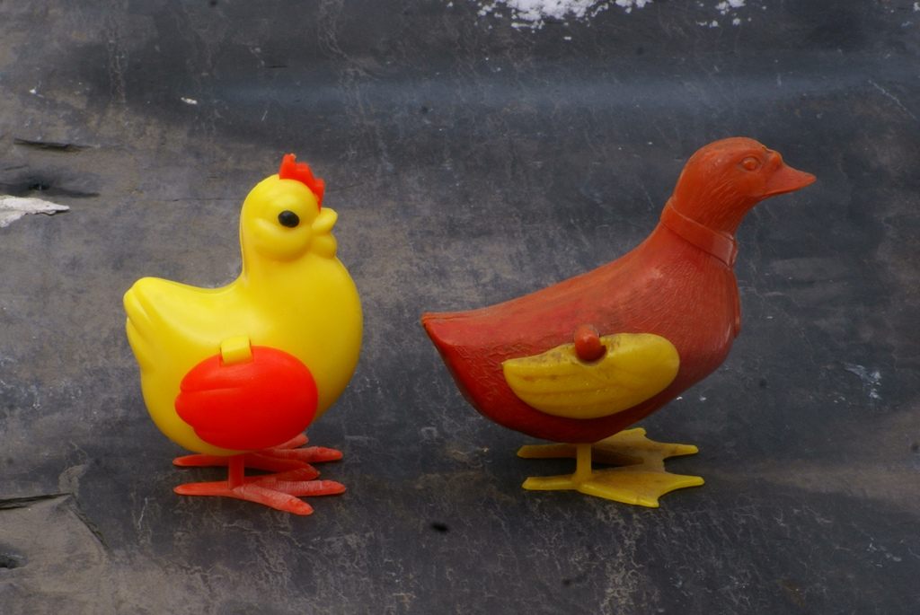 230 Same As It Ever Was Chicken Toy Then And Now