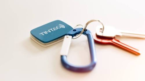 Tintag attached to keys
