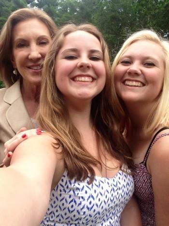 carly selfie